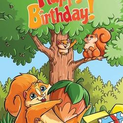 Pop N Play - Birthday Squirrel