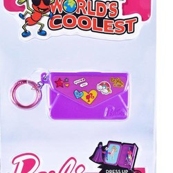 Worlds Coolest Barbie keychain asst - Totebag Notebook & Purse Dress Up