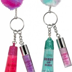 Lip Gloss Duo & Pom Pom Set
