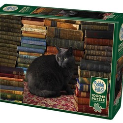 Library Cat 1000 Piece Puzzle