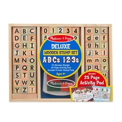 Deluxe Wooden Stamp Set ABCs & 123s