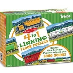Trains Floor Puzzles 4 - 24 Piece Puzzles