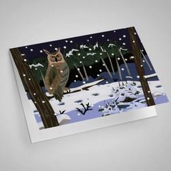 Owl in Snow Notecard