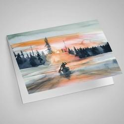 Sunset Paddle Notecard