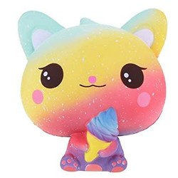 Large Squishy - Rainbow Kitty with Ice Cream