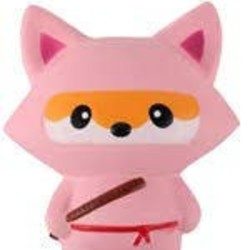 Medium Squishy - Pink Ninja Fox