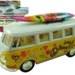 "5"" Diecast VW Classic Bus with Surfboard"