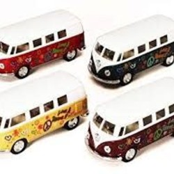 "5"" Diecast 1962 VW Classic Bus Printed"