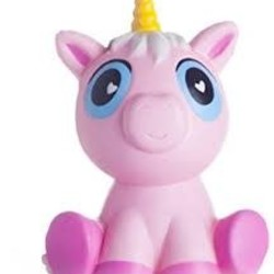 Large Squishy - Sitting Big Eyed Pink Unicorn