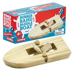 Wooden Rubber Band Paddle Boat