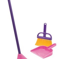 Children's Pink Broom Set