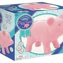 Large Porcelain Piggy Bank