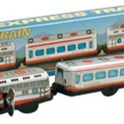 3 Car Tin Train Wind Up