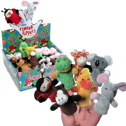 Plush Animal Finger Puppets Assortment