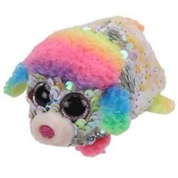Beanie Babies - Flippables - Rainbow Poodle - Teeny Tys