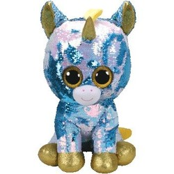 Beanie Boos - Flippables - Dazzle Blue Unicorn - Large 16""