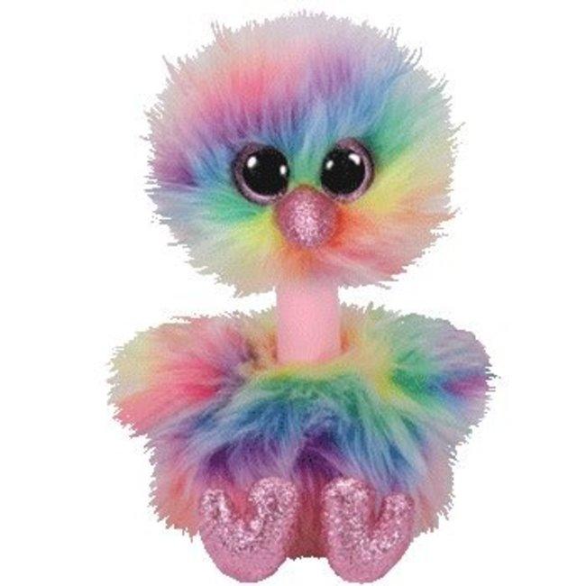 116079f1b2790 Beanie Boos - Asha Rainbow Ostrich - Medium 13