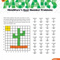 Math Mosaics - More Multiplication Mosaics