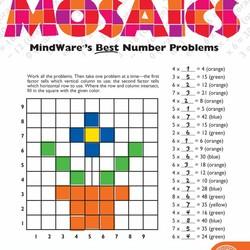 Math Mosaics - Multiplication Mosaics
