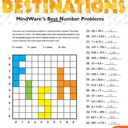Math Mosaics - Decimal Destinations