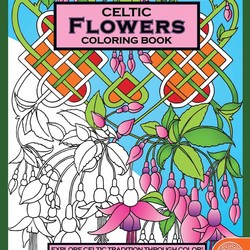 Celtic Coloring Book - Flowers