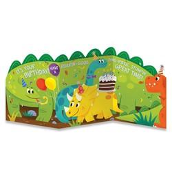 Birthday Cards - Dino Tri-Fold Card