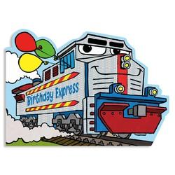 Birthday Cards - Super Train Foil Card