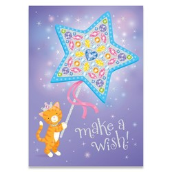 Birthday Cards - Cat Foil Card