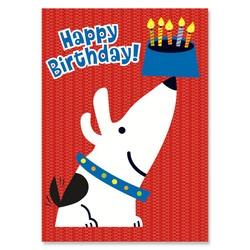 Birthday Cards - Dog Dish Wish Foil Card