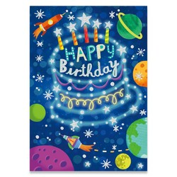 Birthday Cards - Constellation Cake Foil Card