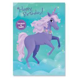 Birthday Cards - Grape Unicorn Scratch & Sniff