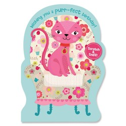 Birthday Cards - Cherry Kitty Scratch & Sniff