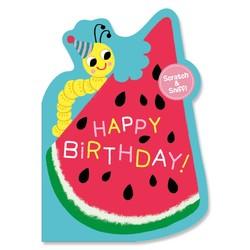 Birthday Cards - Watermelon Scratch & Sniff