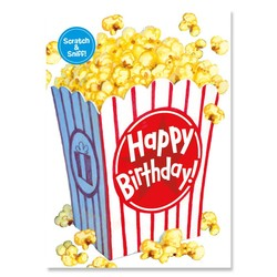 Birthday Cards - Popcorn Scratch & Sniff