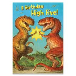 Birthday Cards - Dinosaur High-Five