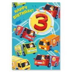 Age 3: Firetruck Giant Sticker Card