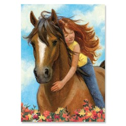 Birthday Cards - Girl with Horse
