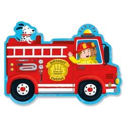 Die Cut Birthday Cards - Fire Truck