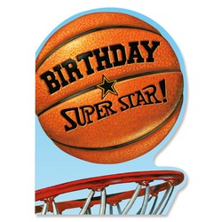 Birthday Cards - Basketball Die-Cut Card