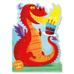 Birthday Cards - Fire Breathing Dragon Scratch & Sniff