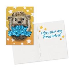 Birthday Cards - Hedgehog Foil Card