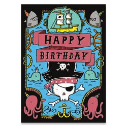 Birthday Cards - Pirate Neon Card