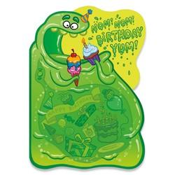 Birthday Cards - Blob Neon Card