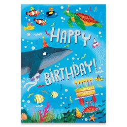 Birthday Cards - Oceons Foil Card