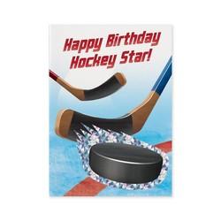 Birthday Cards - Hockey Foil Card