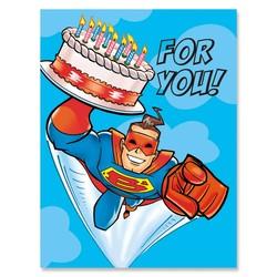Superhero with Cake Gift Enclosure