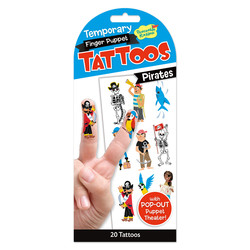 Temporary Tattoos - Pirate Finger Puppets