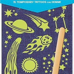 Glow in the Dark Jean Tattoos - Outer Space