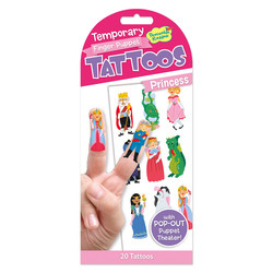 Temporary Tattoos - Princess Finger Puppets