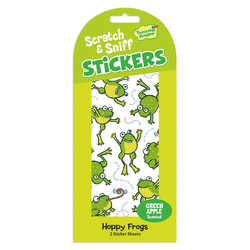 Scratch & Sniff Sticker Packs - Green Apple Frogs